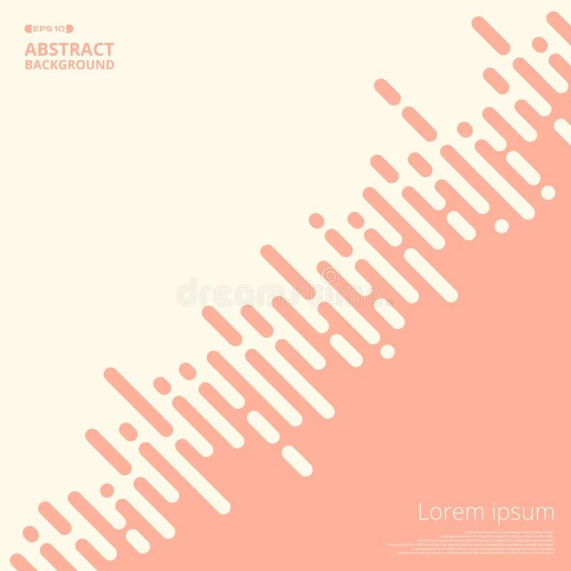 居住的珊瑚颜色条纹线摘要企业介绍背景的 库存例证