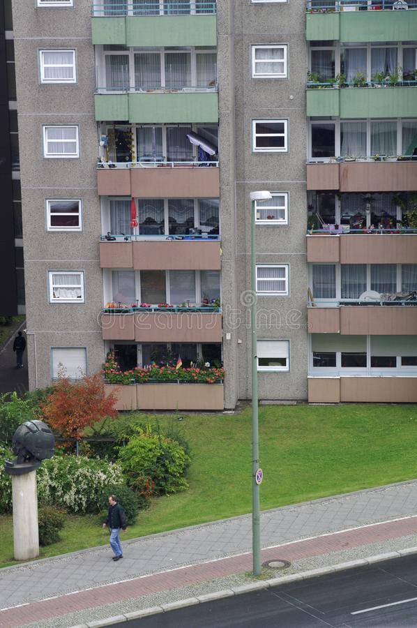 居民住房在Gesundbrunnen,柏林,德国区  免版税库存照片
