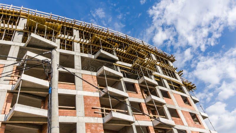 居民住房建设中 免版税库存图片
