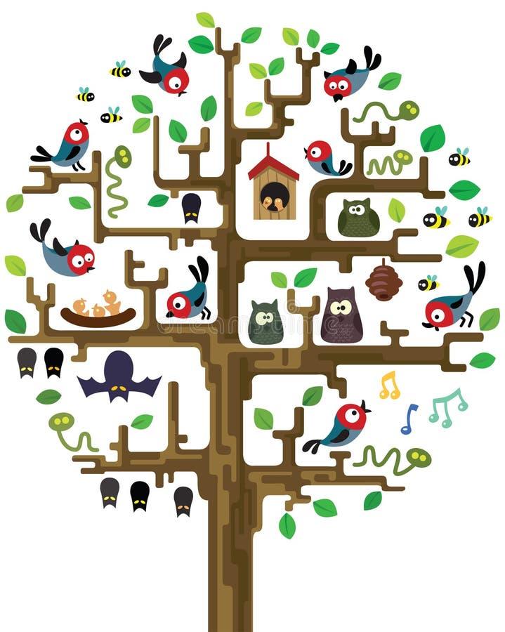 居民结构树 向量例证