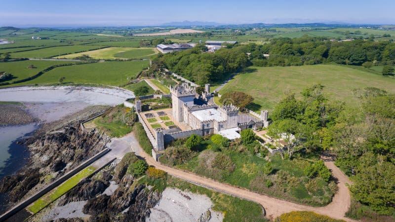 屈安坦城堡 Portaferry 县下来,北爱尔兰 免版税库存图片