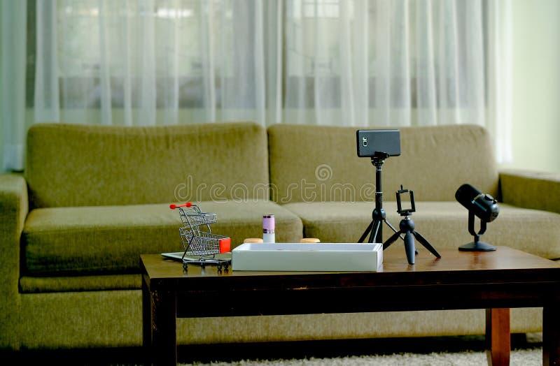 屋子网络购物广播的用途与辅助部件的几种类型工作的 图库摄影