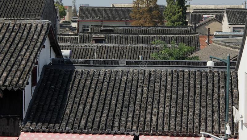 屋顶上面 图库摄影