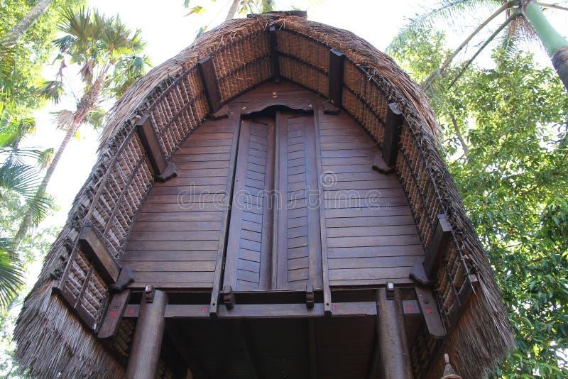 屋顶传统房子印度尼西亚,版本1 库存图片