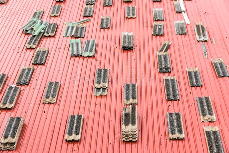 屋顶修理工厂 图库摄影