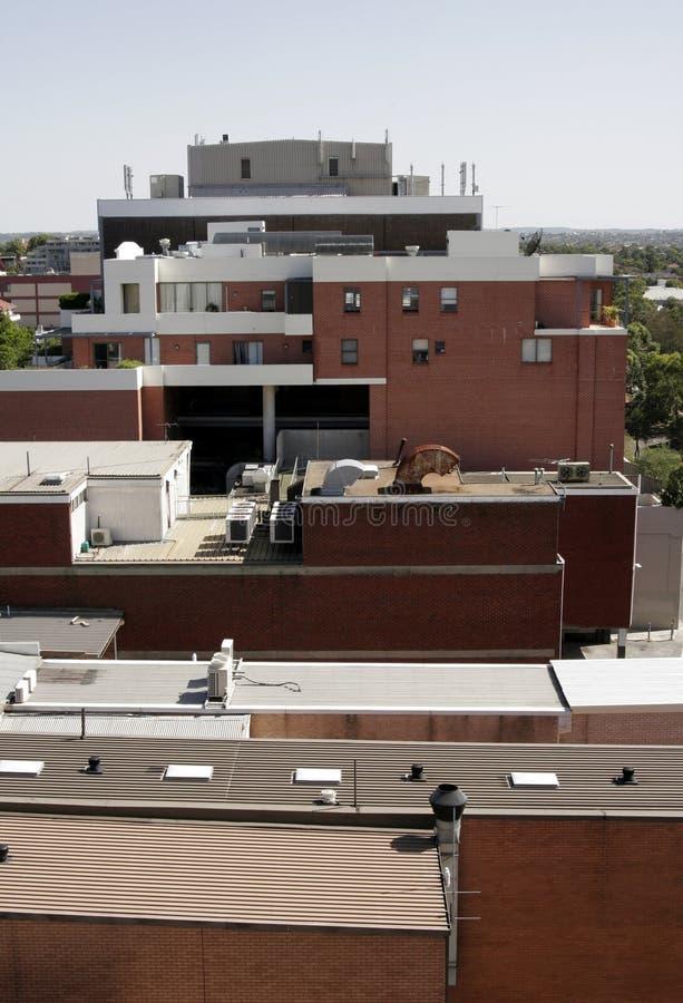 屋顶冠上都市 图库摄影