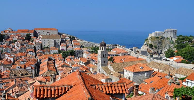 屋顶和城市墙壁 免版税库存照片
