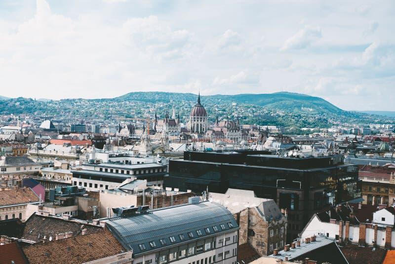 屋顶和议会鸟瞰图  库存照片