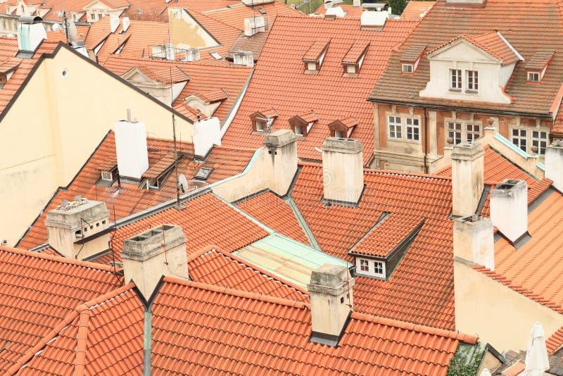 屋顶在布拉格 免版税图库摄影