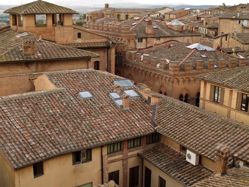 屋顶在意大利 免版税库存照片