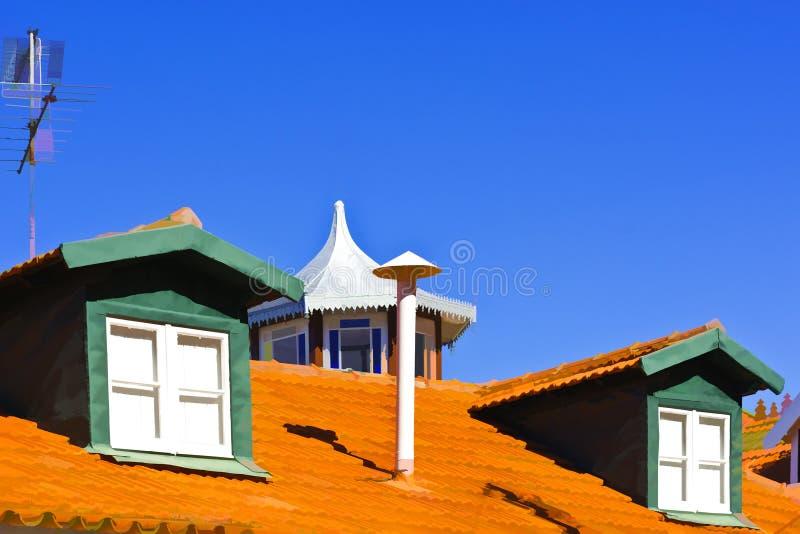 屋顶在葡萄牙 库存图片