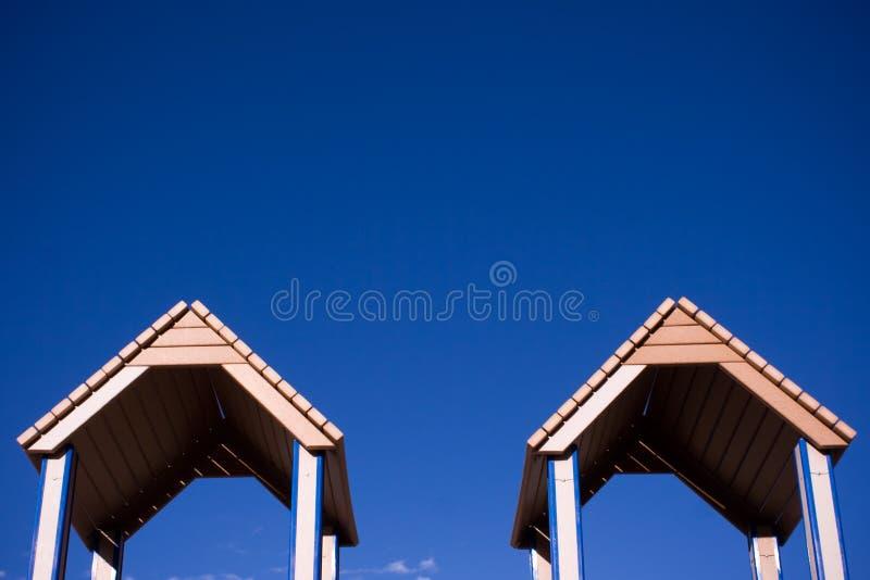 屋顶孪生 库存照片