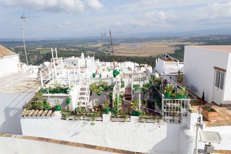 屋顶平台在贝赫尔德拉夫龙特拉,西班牙 免版税库存照片