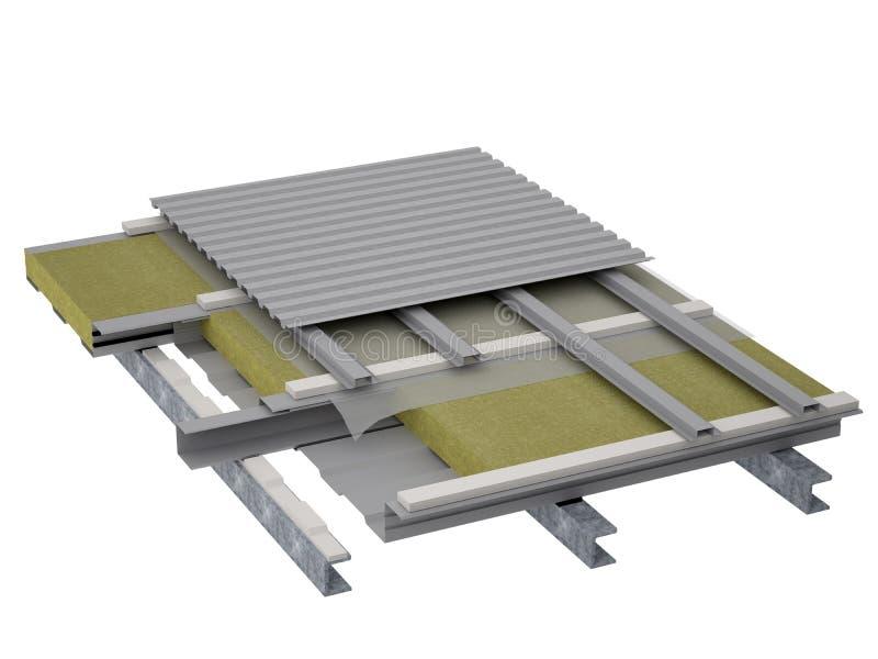 屋顶平台绝缘材料 皇族释放例证