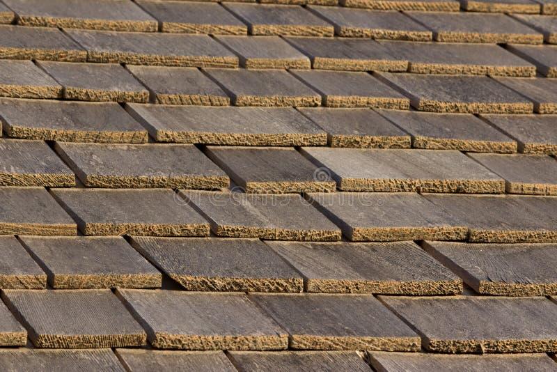 屋顶木瓦木头 免版税库存图片