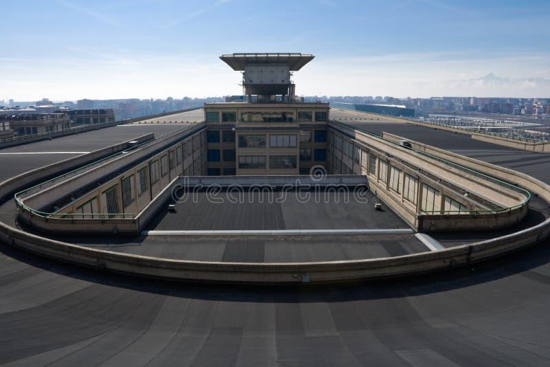 屋顶测试跟踪 免版税库存图片