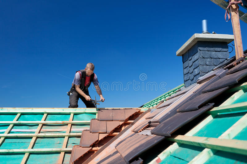 屋顶的射线的特写镜头 库存图片