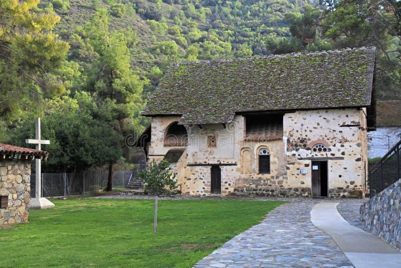 屋顶的教会圣尼古拉斯, Kakopetria,塞浦路斯 免版税图库摄影