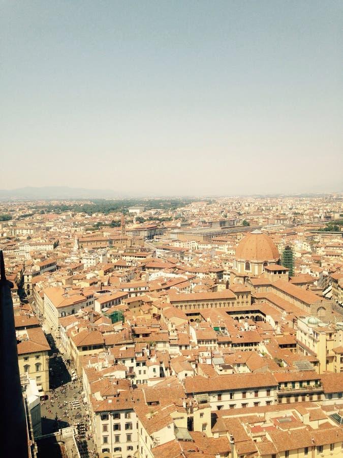 屋顶的看法在佛罗伦萨 库存照片