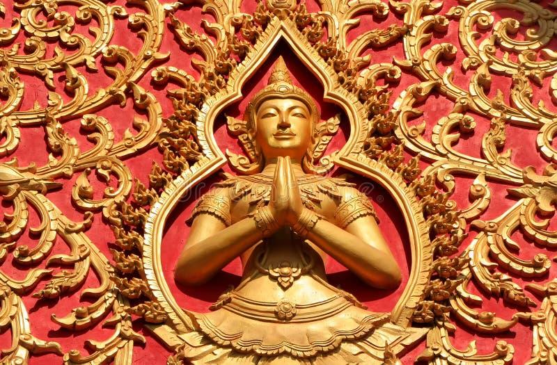 屋顶的装饰, Wat Si Saket 库存图片