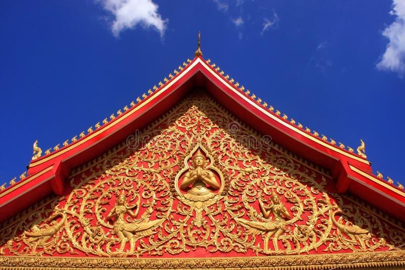 屋顶的装饰, Wat Si Saket 图库摄影