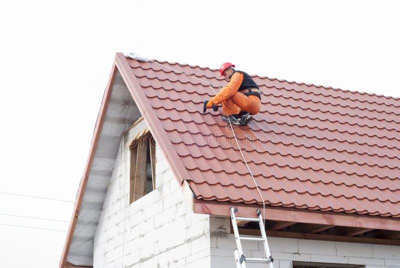 屋顶的设施 免版税库存照片