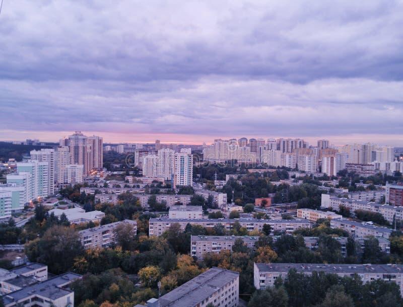 从屋顶的Ekaterinburg视图 免版税库存照片