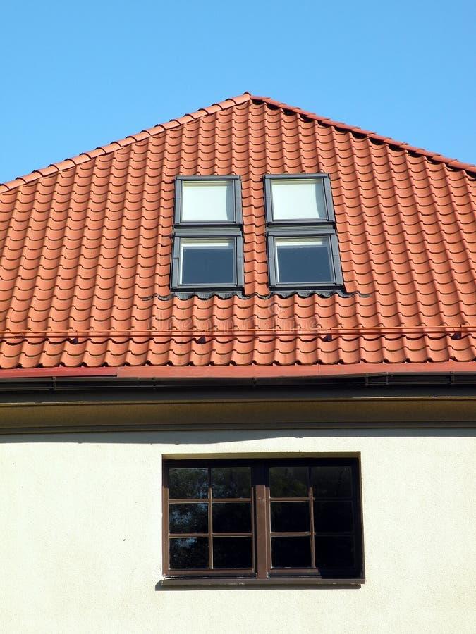 屋顶视窗 库存照片