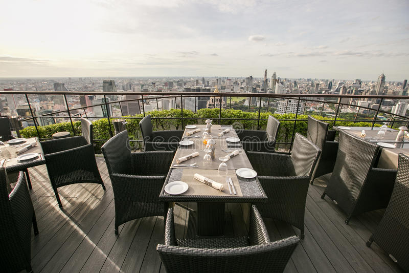 屋顶顶面餐馆 图库摄影