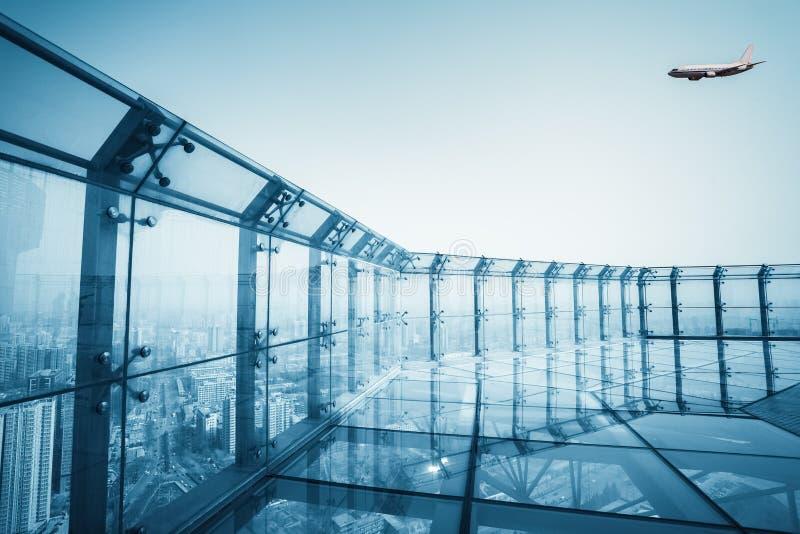 屋顶玻璃平台 图库摄影