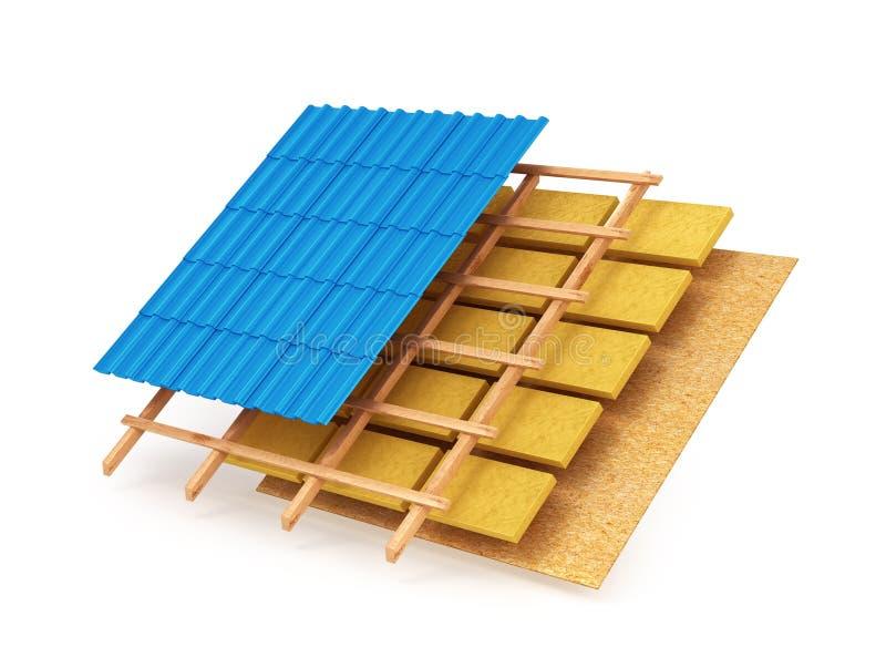 屋顶系统的计划 向量例证