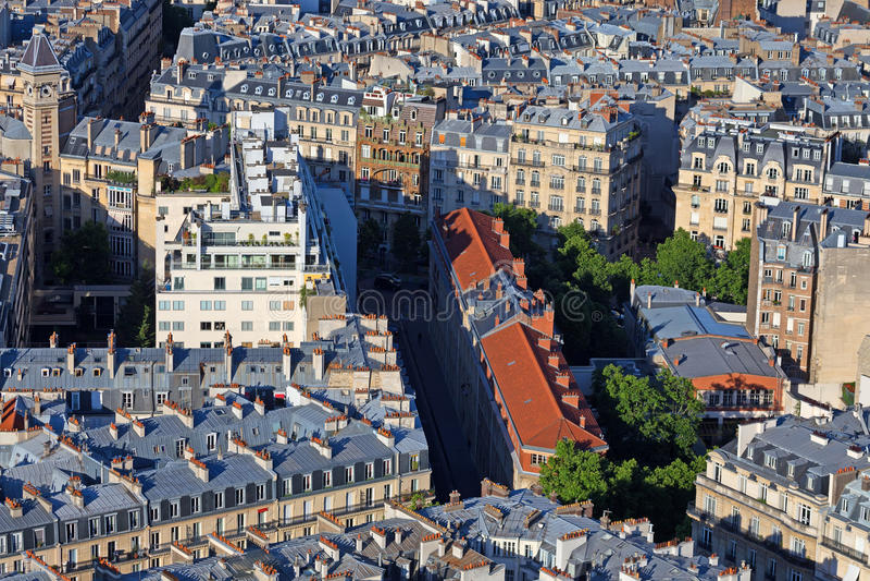 巴黎屋顶 免版税库存照片