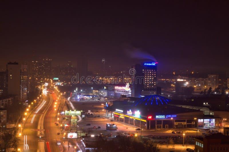 从屋顶Ekaterinburg的看法 库存照片