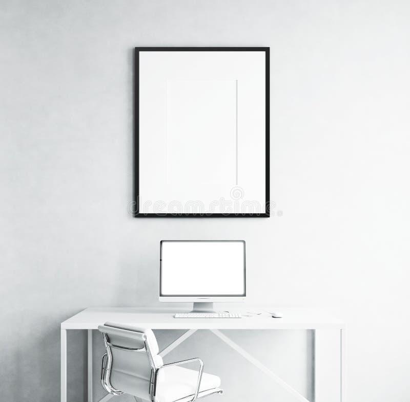 黑屏和图片 免版税库存照片