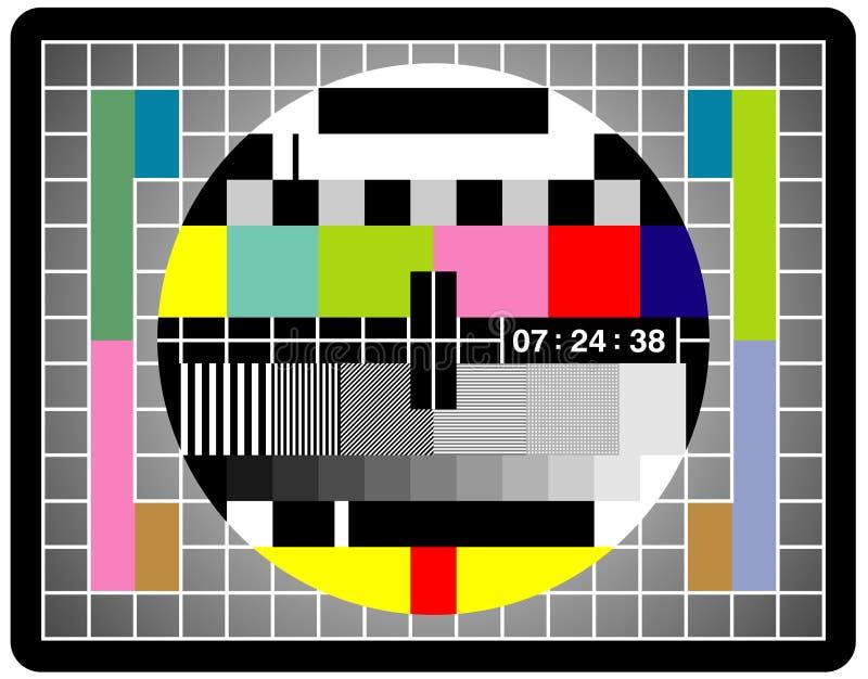 屏幕电视 库存例证