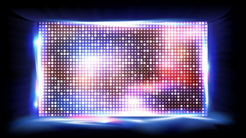 屏幕LED传染媒介 显示,投射 体育场阶段 例证 向量例证