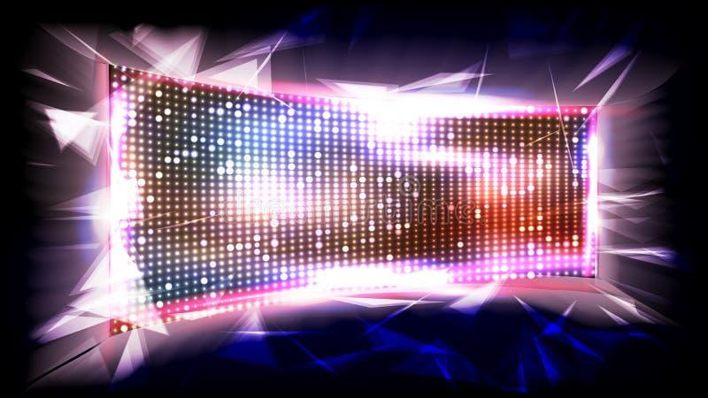 屏幕LED传染媒介 精采射线 纽约证券交易所 发光的有启发性LED 例证 库存例证