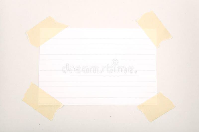 屏蔽纸带 库存图片
