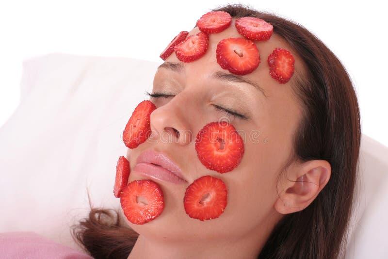 屏蔽草莓 库存图片