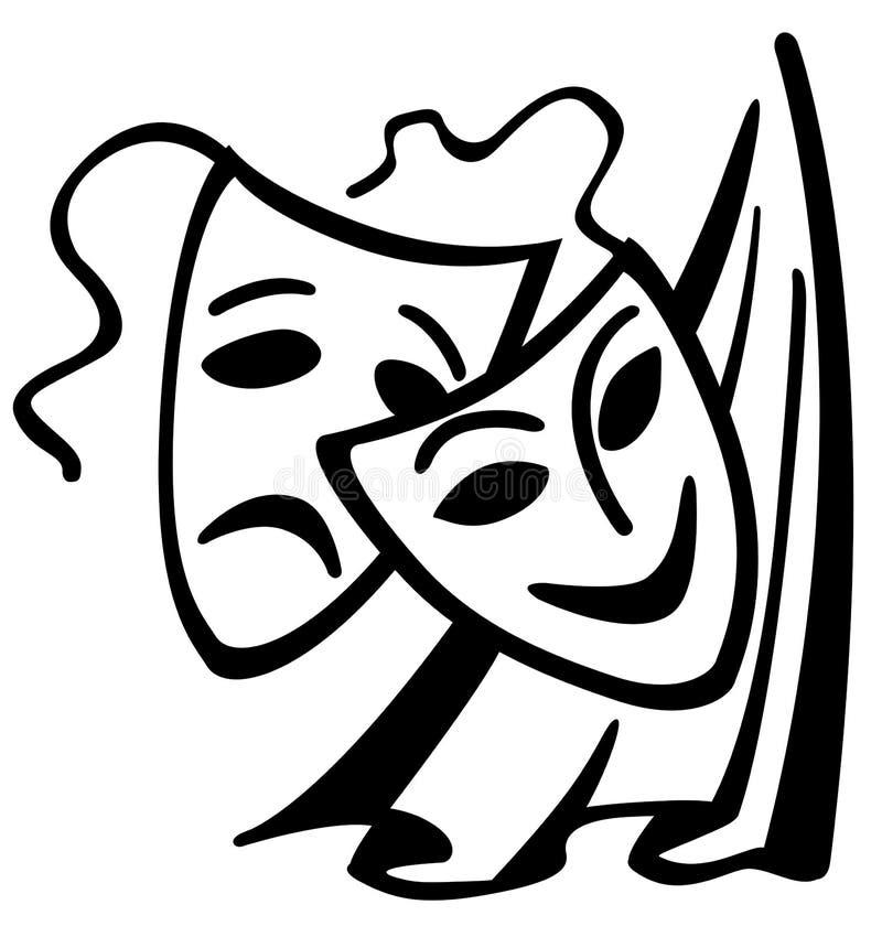 屏蔽teatrical 皇族释放例证