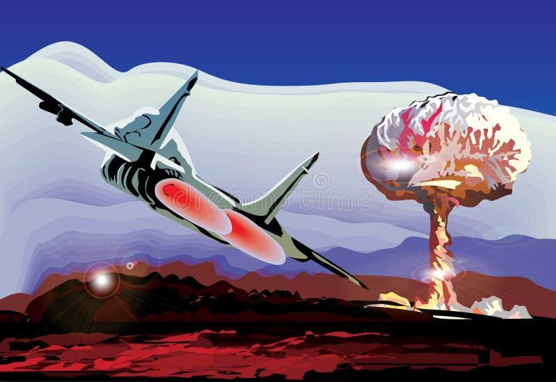 展开例证喷气机 皇族释放例证
