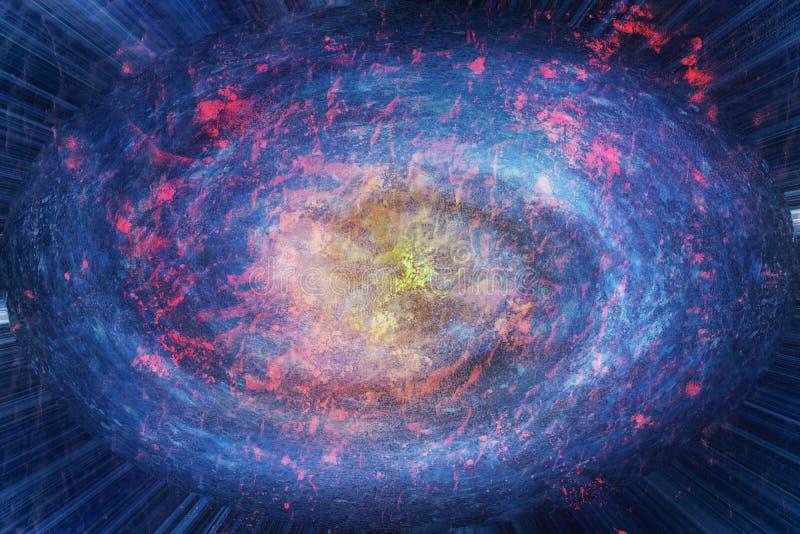 展开星系 向量例证