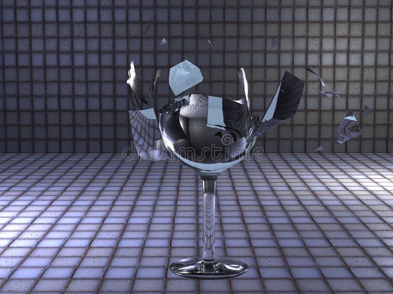 展开的玻璃 向量例证