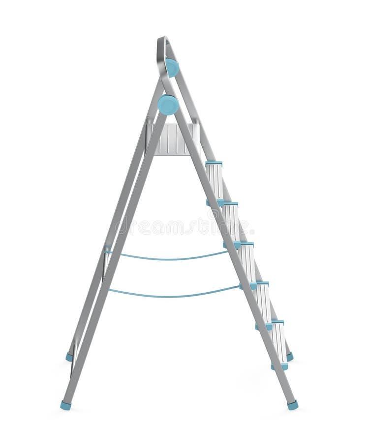 展开的金属梯子 向量例证
