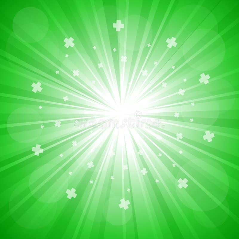展开绿色 向量例证