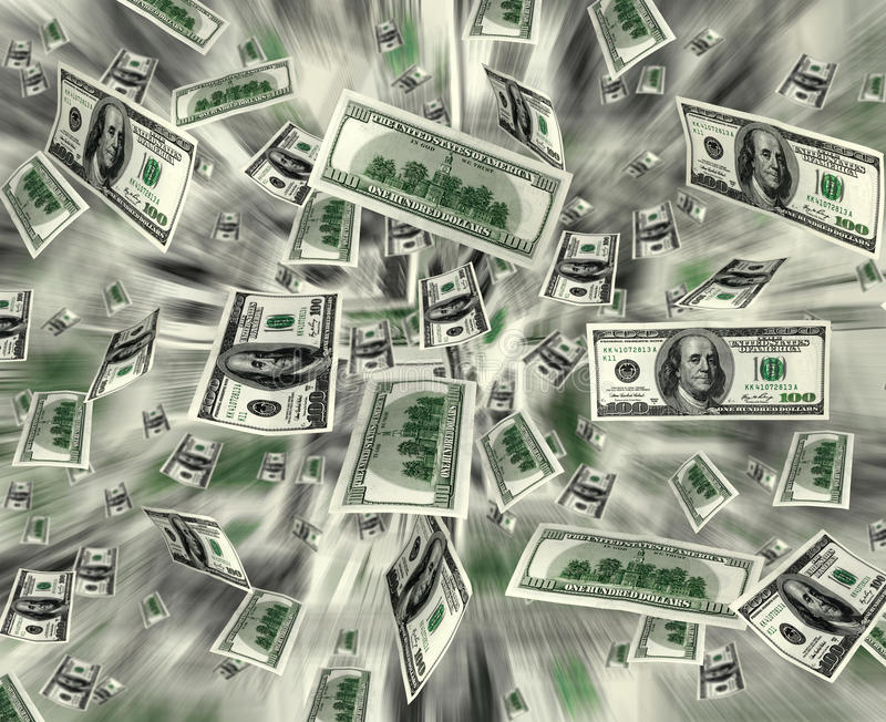 展开货币 库存图片