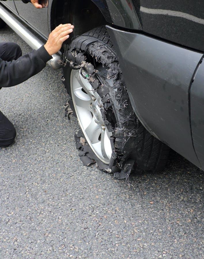 展开轮胎轮子 库存照片