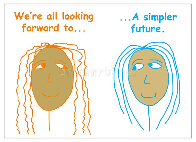展望更简单的未来 图库摄影