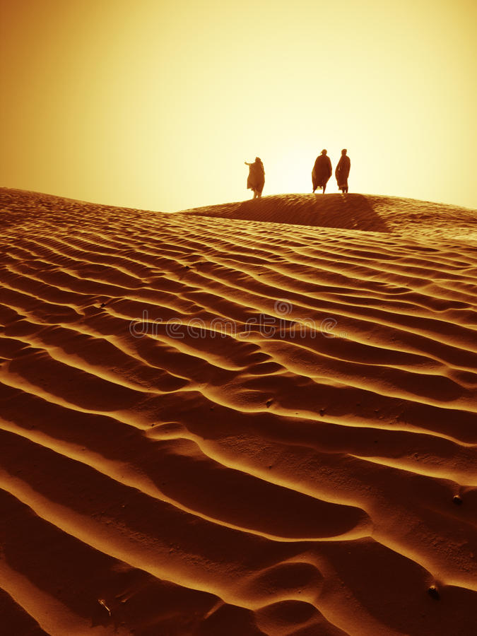展望期撒哈拉大沙漠 库存图片