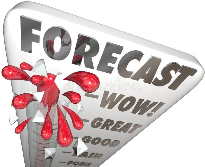 展望词温度计未来财务预算收入了不起的E 库存例证